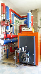 boiler gas in the boiler room