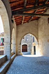 Fototapeta ancient village of Sermoneta, in Lazio
