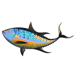 Tuna sea fish unique design