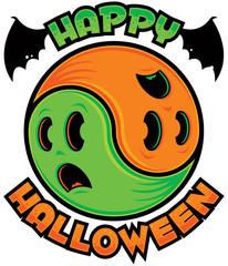 Happy Halloween Ghost Yin-Yang