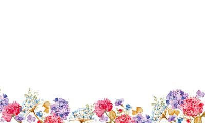 Flower mix on isolated background
