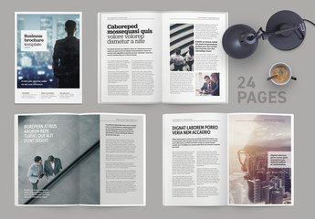Indesign brochure or magazine template