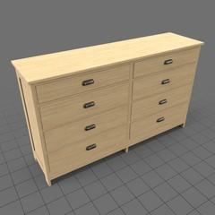 Long modern bedroom dresser