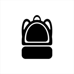 backpack school icon. isolated object