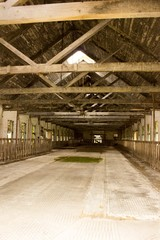 abandoned dairy barn