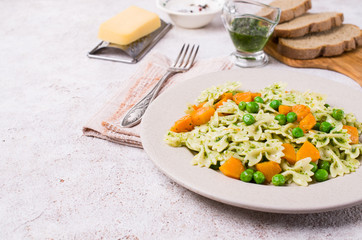 Traditional pasta with vegetables
