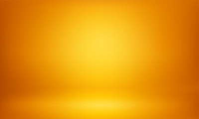 Yellow studio 3D room lightbox light background