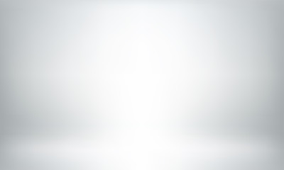 Obraz Gray studio background or backdrop 3D room lightbox - fototapety do salonu