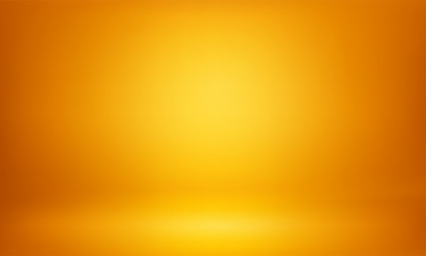 Yellow studio 3D room lightbox light background