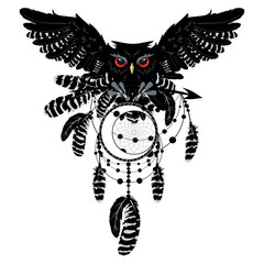 Owl with dreamcatcher