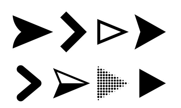 Arrow icons vector direction pointers symbols