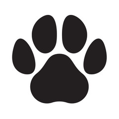 Paw logo cat dog animal pet vector footprint icon
