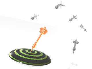 Arrows and the target