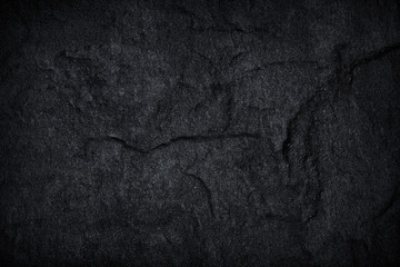 Dark grey black slate stone background or texture.