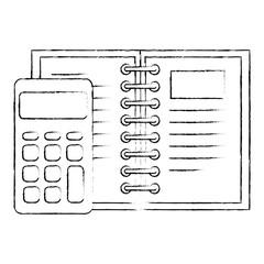calculator math with note book