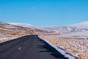Fotobehang Kanaal Road in iceland