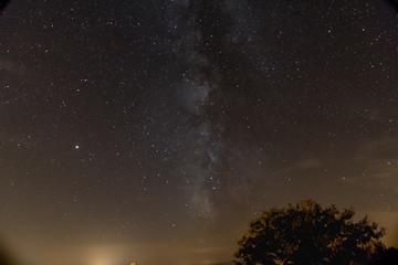 milky way in a nice starry sky in the dark night