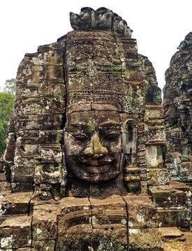 Stone faces of Bayon temple,Cambodia