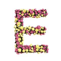 Flowered alphabet floral letter collection 3d illustration