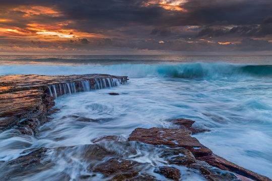 Sunset over Kalbarri Beach Western Australia