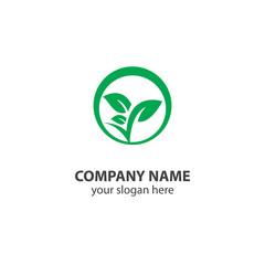 leaf nature logo design element