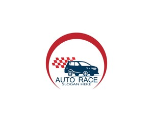 Auto car race logo vector