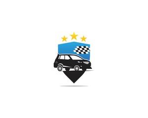 Auto car race logo vector