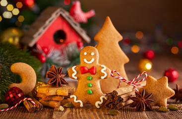 Christmas homemade gingerbread cookies a
