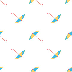 seamless pattern with colorful umbrellas on white background