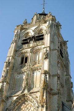Ville de Rugles, clocher de l'église Notre-Dame, département de l'Eure, Normandie, France