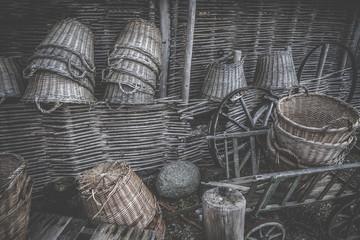 Weave baskets workshop stacked