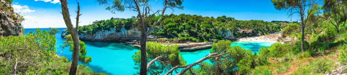 Sommer Urlaub Strand Bucht Spanien Mallorca, Meer Landschaft Panorama, Cala Llombards