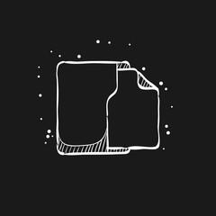 Sketch icon in black - Office folder