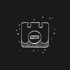 Sketch icon in black - Unavailable label
