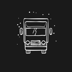 Sketch icon in black - Truck