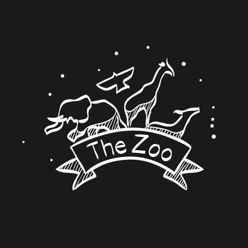 Sketch icon in black - Zoo gate