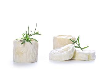 Poster Produit laitier fromage sur fond blanc