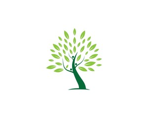 Tree logo vector illustration