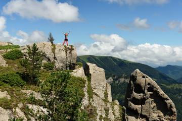 Treking in the mountains of the Borjomi-Kharagauli National Park in Lesser Caucasus. Borjomi, Georgia.