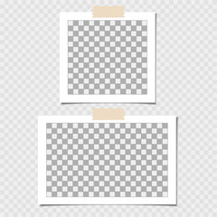 Collection of photo frame. Vector template for your trendy photo or image