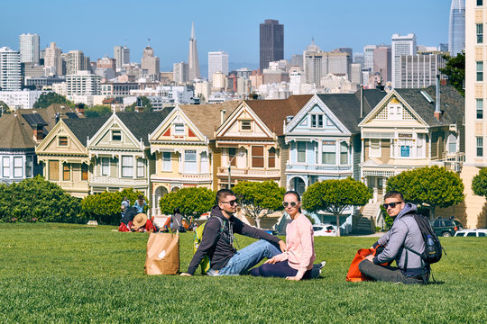 Young people in San Francisco park