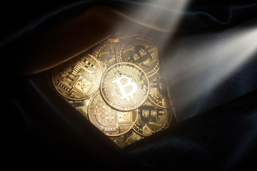 Cyber thieves found wallet full of Bitcoin money.