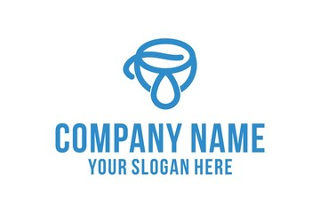 coffee and drop liquid logo design inspiration