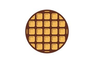 waffle round logo design inspiration