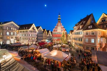 Weihnachtsmarkt in Esslingen, Baden-Württemberg, Deutschland