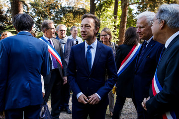 Emmanuel Macron at the Villa Viardot in Bougival