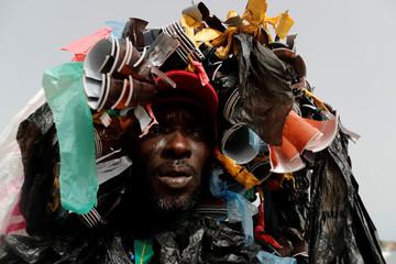 Modou Fall raises environmental damage awareness during World Cleanup Day in Dakar