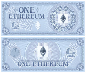 One Ethereum abstract banknote