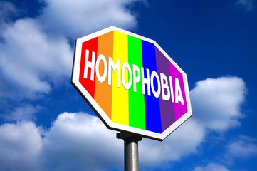 Stop homophobia sign