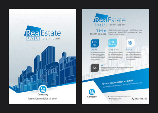 Brochure template design. Concept of architecture design. Vector illustration